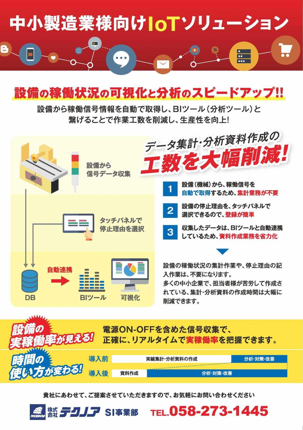 製造業・加工業様向けIoTソリューション(集計・分析資料作成の手間を大幅削減!)
